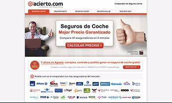 Web Corporativa para Acierto. Plataforma Wordpress.