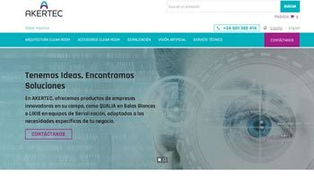 Web corporativa Akertec. Plataforma Wordpress responsive.
